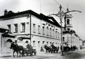Трамвайные пути на Николоямской улице (1912)