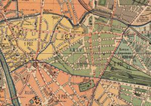 Карта Рогожской слободы, 1915 год